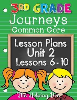 3rd Third Grade CCSS Journeys LA Unit 2 Common Core 5 Week