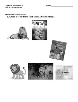 3rd Trimester Literacy Assessment