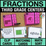 3rd - Understanding Fractions Math Centers - Math Games