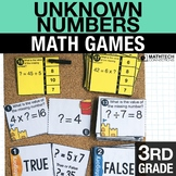 3rd - Unknown Numbers in Equations Centers - Math Games