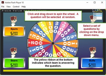 3rd Wheel of Fortune Module 1 – Place Value and Fractions