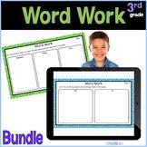 3rd Grade Word Work Google Slides Bundle Distance Learning