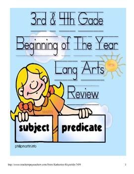 Language Arts 3rd-4th grade-Common Core Language Arts