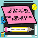 3rd and 4th Grade Geometry Review Task Card Activity