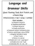 3rd and 4th Grade Grammar Skills