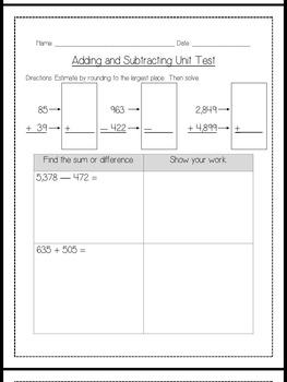 3rd Grade Math Assessment Bundle