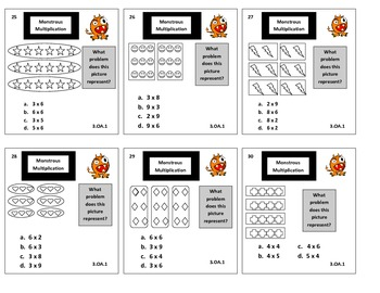 3rd Grade Monstrous Multiplication Game for Common Core