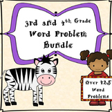3rd and 4th Grade Word Problems-Bundle (500 Problems)