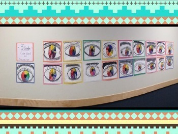 3rd Grade Art Project-Human eye and Color Wheel!