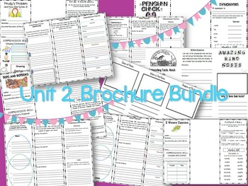 3rd gr Reading Street Unit 2 Bundle: Brochures, Focus Walls, and Study Guides