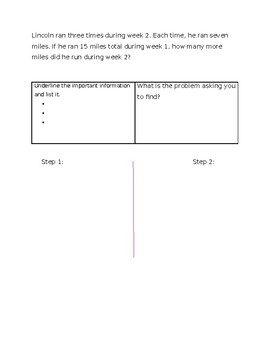3rd grade 2 step word problem practice