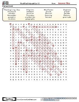 3rd grade ABeka list 12 Spelling Packet