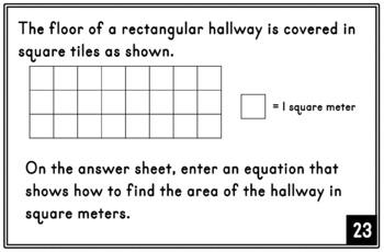3rd grade AIR Math Test Prep: SET 2 (Ohio) Task Cards