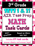 3rd grade AIR Math Test Prep  (Ohio) Bundle: Includes 2 Se