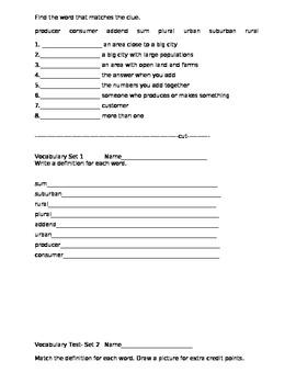 3rd grade Academic Vocabulary Set 2