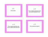 3rd grade Berenstain Bears reading grammar activity cards