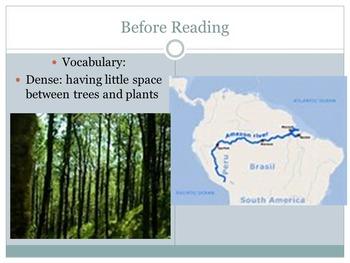 3rd grade Close Reading Amazon River text lesson