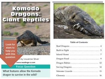 3rd grade Close Reading Komodo Dragons text lesson