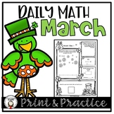 Daily Math Worksheets and Assessments - March
