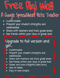 3rd grade Math Digi Wall Google Spreadsheet Data Tracker (