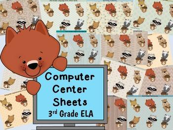 3rd grade ELA Computer Center Sheets