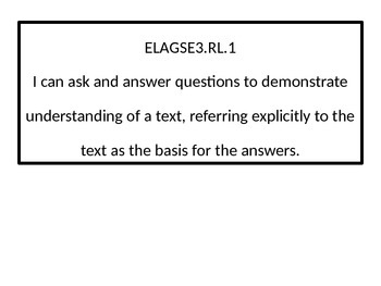 3rd grade ELA I Can statements with black-line border.