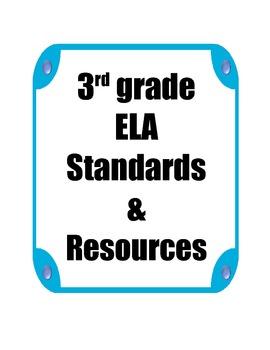 3rd grade ELA Standards and Resources Binder