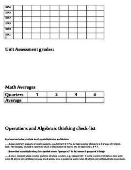 3rd grade ELA/Math data binder