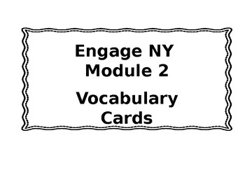 3rd grade Engage NY Module 2 Vocabulary Cards