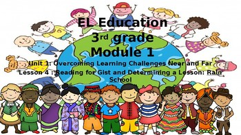 3rd grade Expeditionary Learning Module 1 Unit 1 Lesson 4