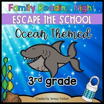 3rd grade Family Literacy Night Escape the School
