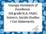 3rd grade Georgia Standards of Excellence I Can Statements