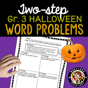 3rd grade Halloween Word Problems - Close Reading!