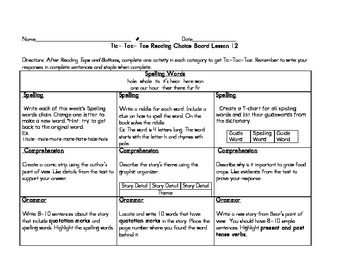 3rd grade Journey's Choice Boards Lessons 11-15