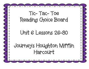 3rd grade Journey's Choice Boards Lessons 26-30