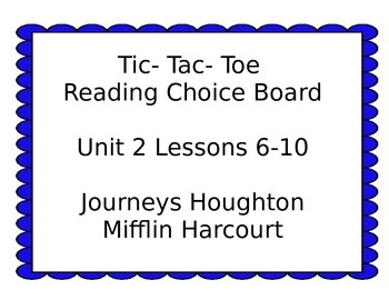 3rd grade Journey's Choice Boards Lessons 6-10