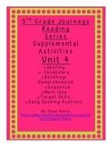 3rd grade Journeys Reading Series Supplemental Activity Pack Unit 4