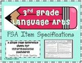 3rd grade Language Arts FSA Item Specifications- Informational