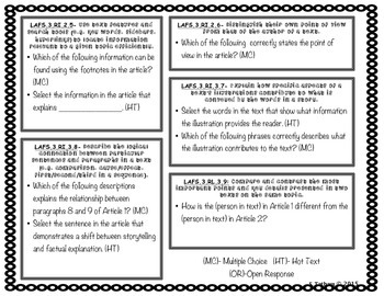 3rd grade Language Arts FSA Item Specifications- Informational