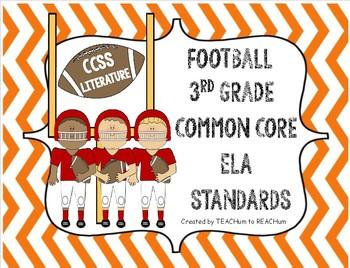 3rd grade Literature CCSS Standards - Football Theme
