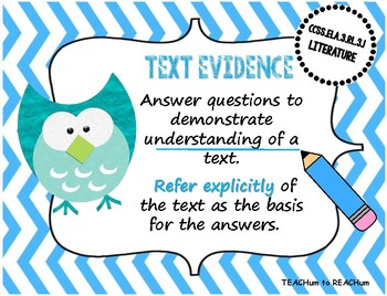 3rd grade Literature CCSS Standards - Owl Theme