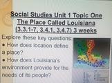 3rd grade Louisiana Social Studies Unit 1-5 Key Question Cards