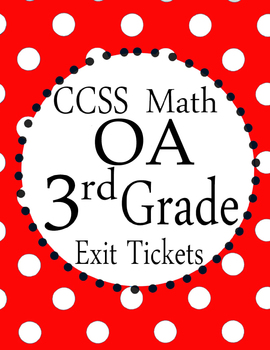 Can You Find The MISTAKE? - 3rd grade Math OA Exit Tickets CCSS