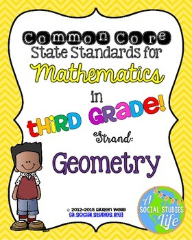 3rd grade Math Common Core Standards Posters Geometry