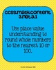 3rd grade Math Common Core Standards Posters Number & Operations in Base Ten