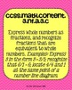 3rd grade Math Common Core Standards Posters Numbers & Ope