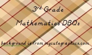 3rd grade Math Document Based Questions - DBQs