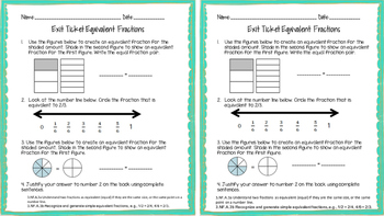 3rd grade Math Exit Card Bundle ALL STANDARDS
