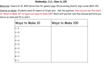 3rd grade Math Investigations Unit 1 1.8, 1.9, 2.2, 2.3