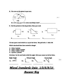 3rd grade Math Perimeter,angles,& MORE-common core standards 1,2,6,8,&13.
